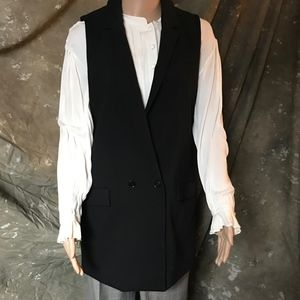 Banana Republic, black vest, size 8